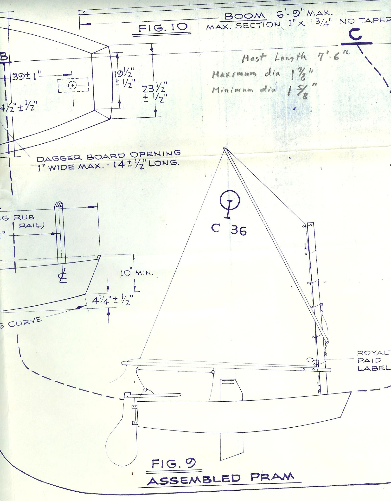Optimist Pram Sailboats Plans