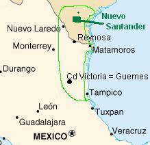 Nuevo Santander Rough Map