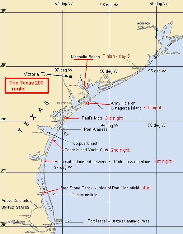 Beaches In Texas Map