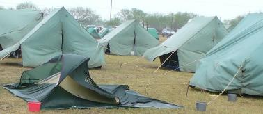 A more wind resistant troop tent was erected late in the day and the Scouts slept in that tent others in the canvas quartermasteru0027s tent. & Arrowhead Dist. Camporee 2009 - McAllen Texas
