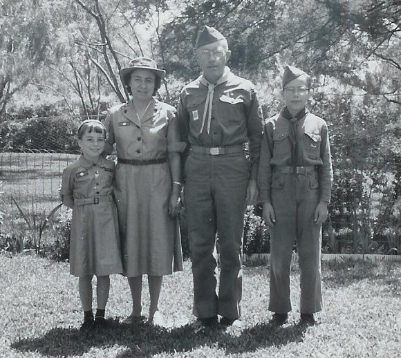 Mittelstaedt family scouting circa 1960